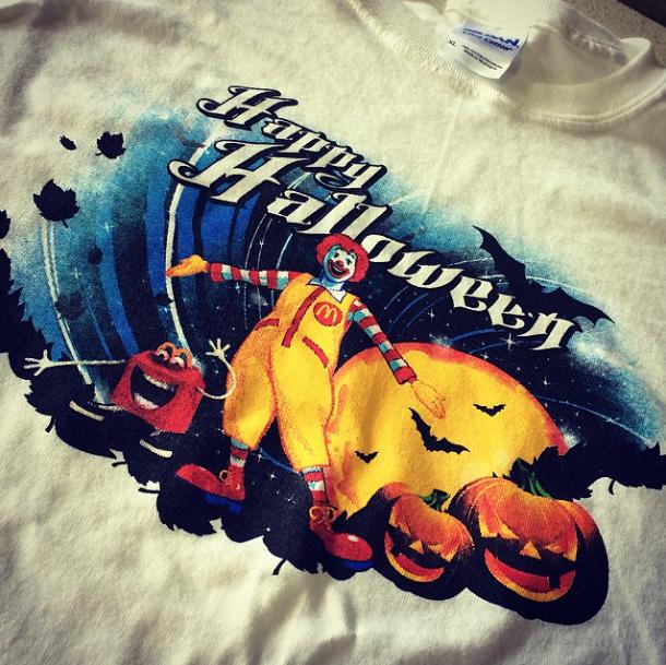 Screen Printing | McDonalds 2014 Halloween Shirt | Hanover, PA