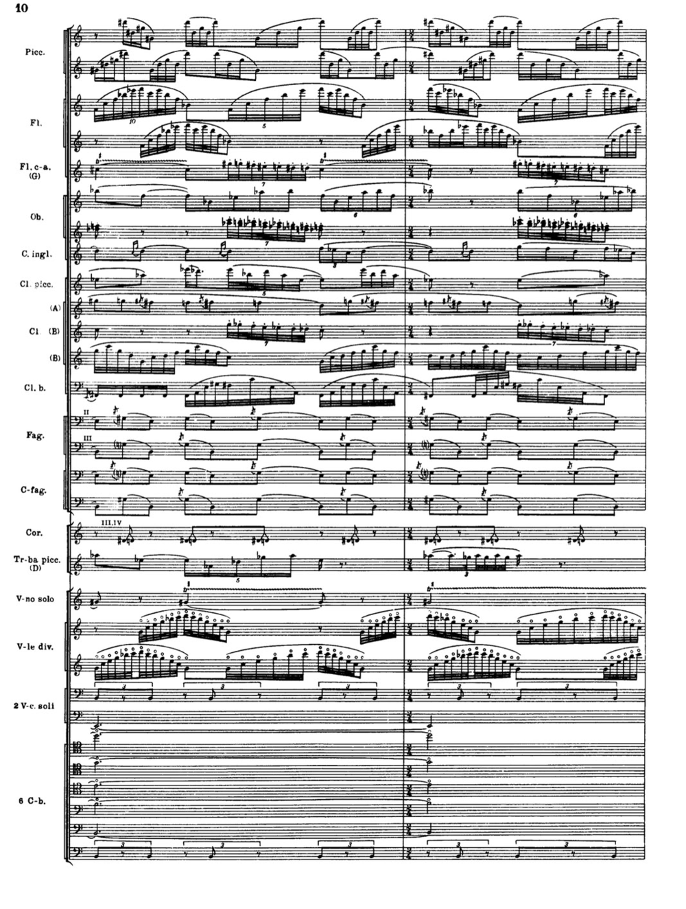 "Igor Stravinsky, ""The Rite of Spring""  sample page from the full score"