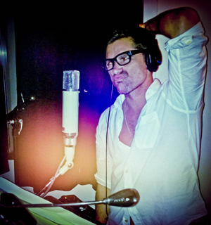 John Stamos spent some time in the studio tracking vocals.