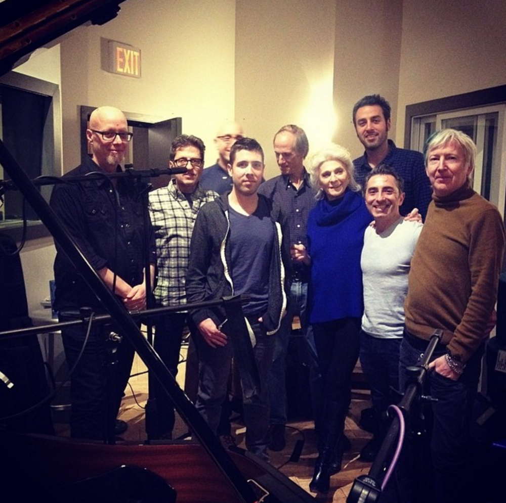 Judy Collins, Ari Hest, the band, and Keith Rigling
