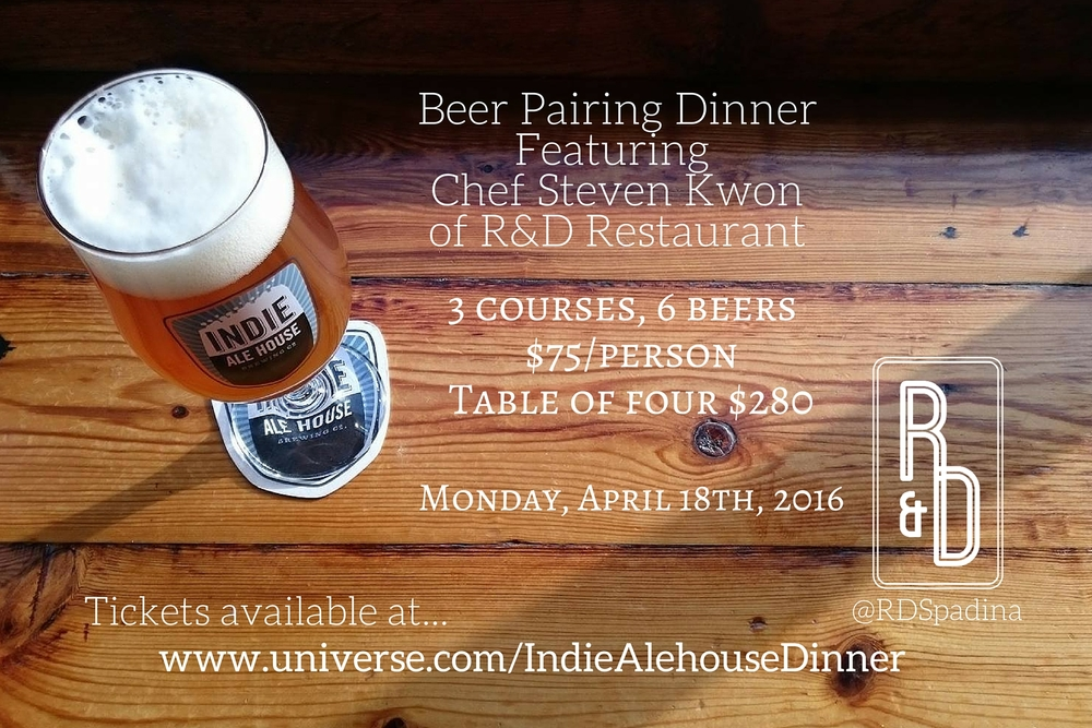 Head to www.universe.com/IndieAlehousebeerDinner for tickets!