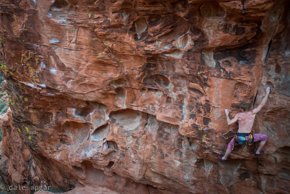 ...yet more red rock bolt clipping with Mr. Hebert