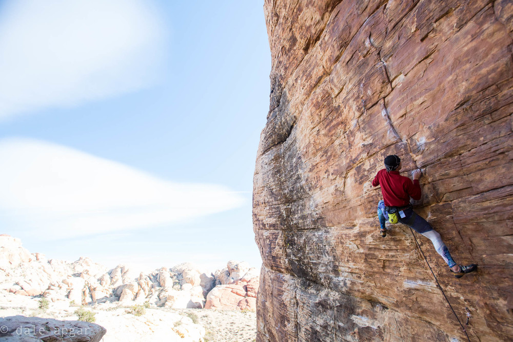 Eric Trautmann on the Red Rock Sandstone