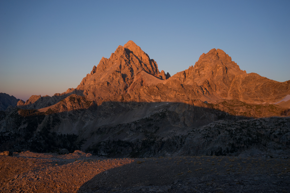 We had to set up camp because it was starting to get late, so after we did, I got some sunset shots of the backside of the Tetons.