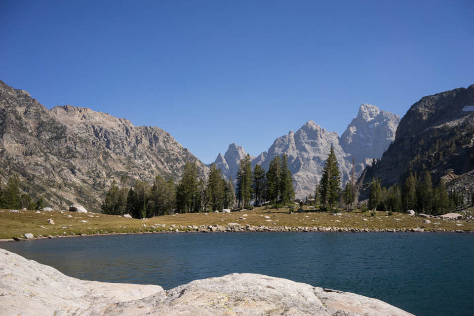 This is a picture of Solitude Lake, and it is spectacular! Many people day hike up to this lake, so it's fairly populated, but still worth every moment we spent here. The wind was gusty this afternoon, so it made for a fairly chilly stop. From here, the climb gets crazy intense up to Paintbrush Divide.