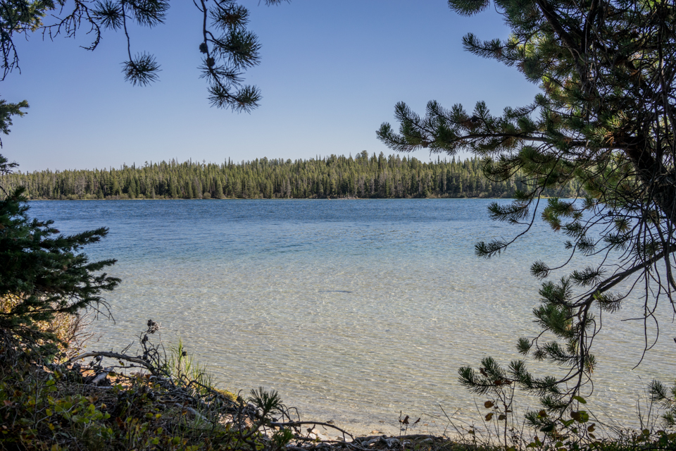 White sandy beaches exist in Grand Teton National Park, except the water is glacial cold!