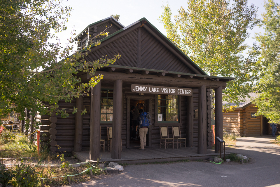 We finally arrive at Jenny Lake Visitor Center!