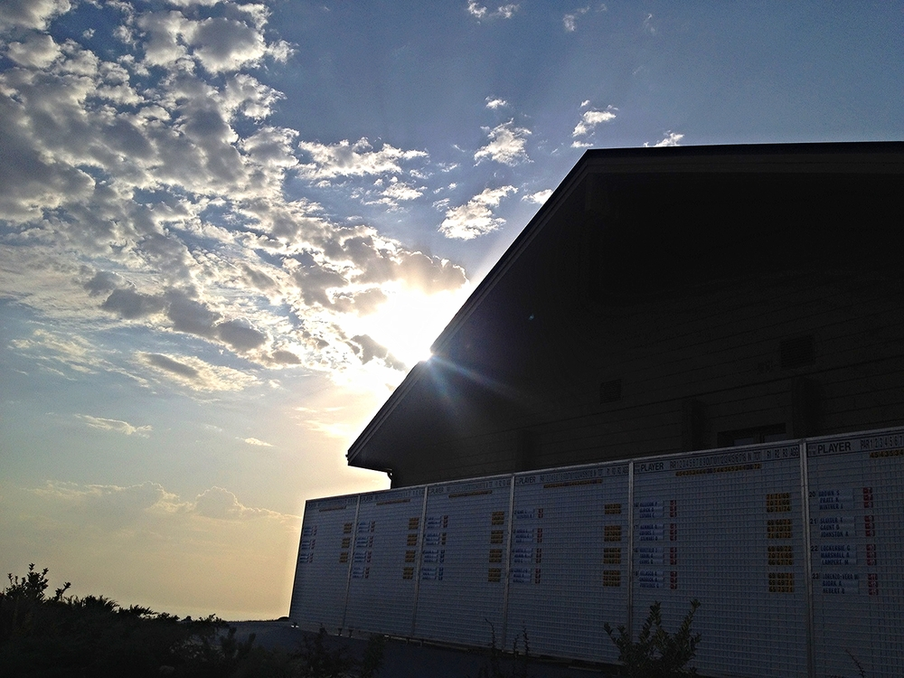Sun setting on the Azerbaijan Challenge Open 2014.  Azerbaijan Golf Challenge Open 2014'de  gunes batıyor.