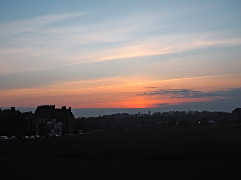 Sunset on Old Course!  /  Old Course'da gun batımı