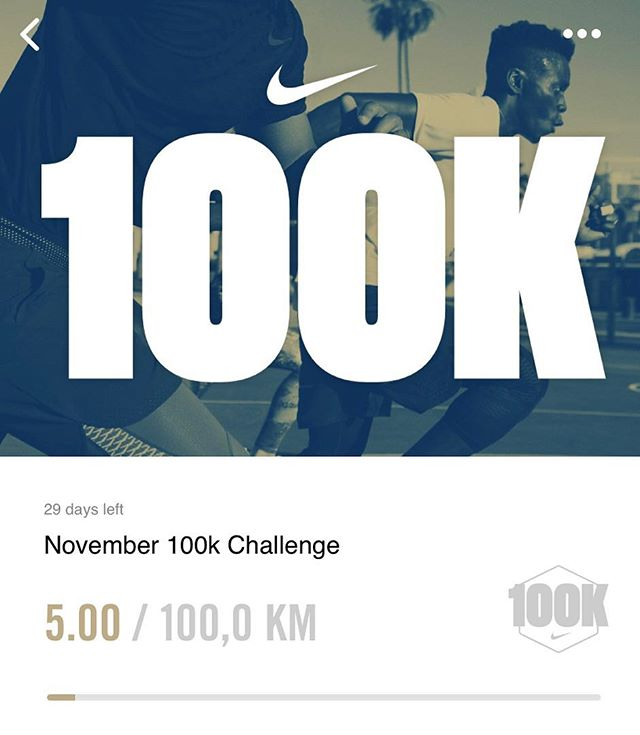 Hi! New month and new goal time.!! 🌟🌟🌟As some of you might have seenOn my stories that I've signed up for 50k/October challenge on #nikerunning app which I kinda saw accidentally. It was like a week late into the challenge however wasn't tough to complete. For regular runners maybe it wasn't much distance ,however since I was't running so frequently recently it was a thing I need to make me go out and run. This month I've picked 100k/November challenge. Having a fitness goal is good for me otherwise I'm kinda without a purpose. Even tough you want to loose weight, it's better to pick up a fitness goal instead of weight goal because weight is not always the right indicator and you'll loose that weight eventually while reaching that goal (Along with being good with nutrition) It could be anything, from going to gym let's say 3-4 times a week to running a half marathon or walking half an hour everyday. I was tired in morning from all the workouts I've done in the week so far, been to a tough kettlebells class this morning. I still got like 30 min. free before getting ready for work. It was cold, I was tired however I've made an effort to go out and run 5ks. It was the first day of the challenge  and I've felt motivated and wanted to start early. Only that kind of goals or challenges make you do that otherwise you'll find an excuse not doing it. You can also sign up for my one or other challenges if you have  Nikerunning app so who's with me? / Merhaba! Yeni ay ve yeni bir hedefle karsinizdayim. Hikayelerimde belki gorenler olmustur,gecen ay Nike running uygulamasinda Ekim ayi boyunca 50k kosma hedefine kayit olmustum.Tesadufen gordugum bu hedefe, yaklasik bir hafta gec baslasam da, tamamlamam zor olmadi. Duzenli kosanlar icin belki cok bir mesafe degil ama son aylarda pek kosmayan beni disari cikip kosturmaya motive edecek bir hedef olmasi bakimindan benim cok isime yaradi. Bu ayda mesafeyi iki katina cikartip 100k/ Kasim hedefine yazildim. Benim icin bir fitness hedef