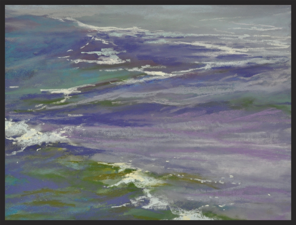 Cynthia Crimmin, Gentle Swell, 14x11, pastel on panel in silver frame