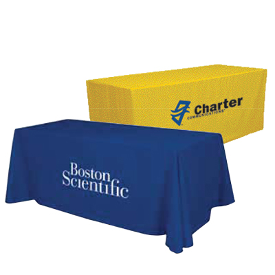 1-color imprint, 2-color imprint, full color full bleed.  6ft and 8ft, 3-sided or 4-sided.