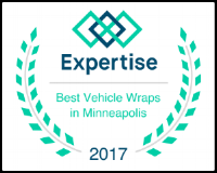 We were recently recognized as one of the top vehicle wrap companies in Minneapolis by Expertise.com