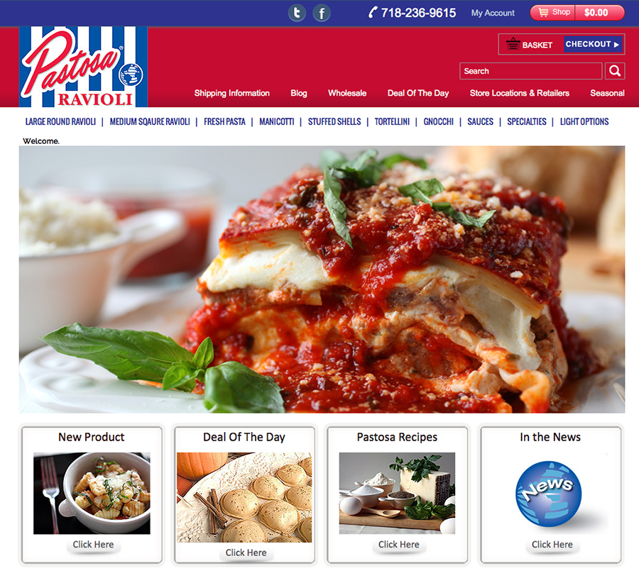 Pastosa Ravioli Website