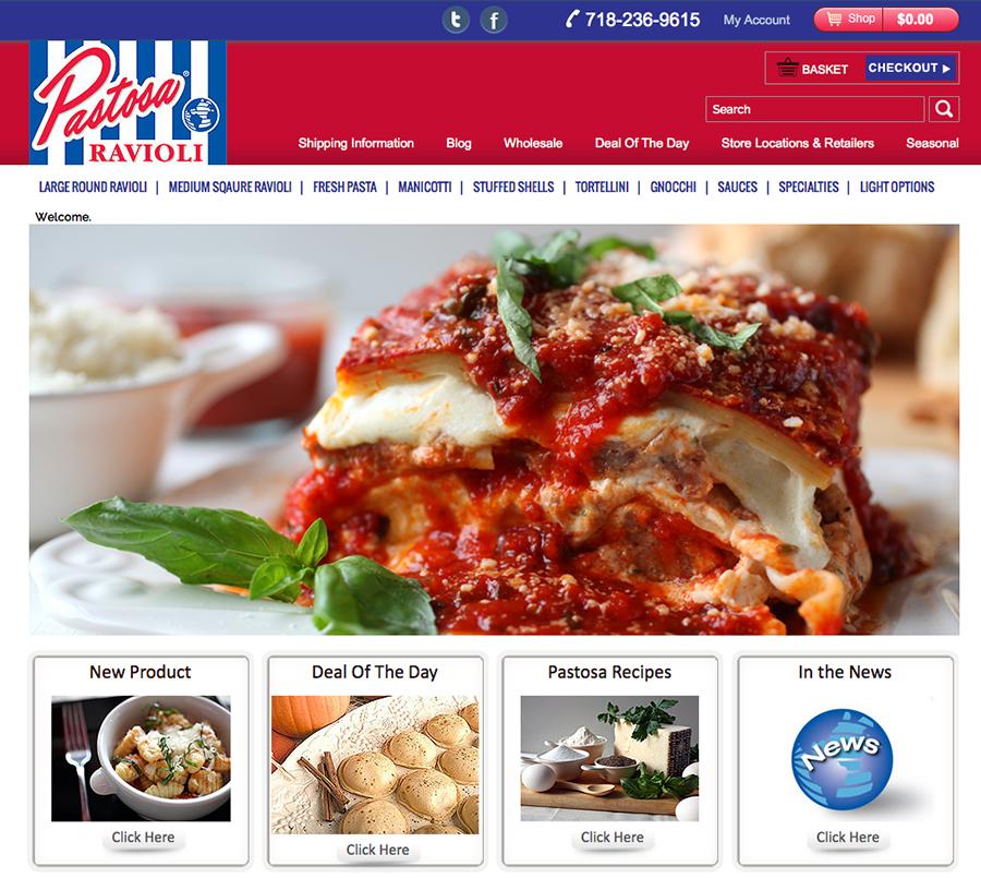 Pastosa Ravioli Website