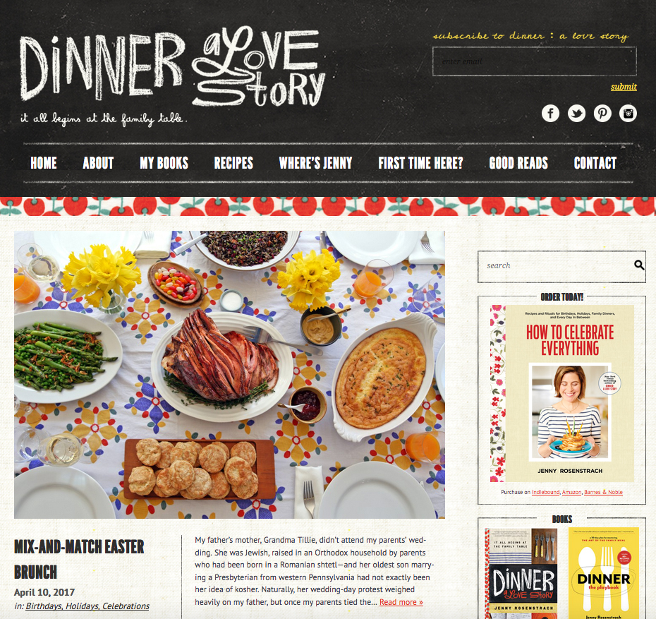 Dinner A Love Story Website