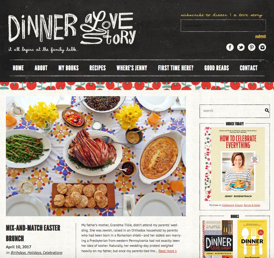 Dinner A Love Story Website