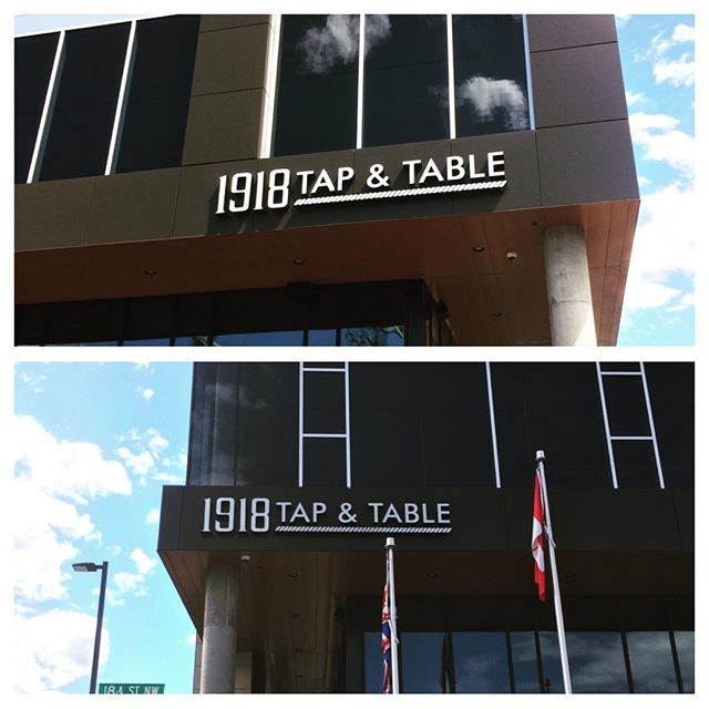Proud to have been a part of this project with the Royal Canadian Legion...Get out and support your city and community by stopping in at 1918 Tap & Table! @royalcanadianlegion