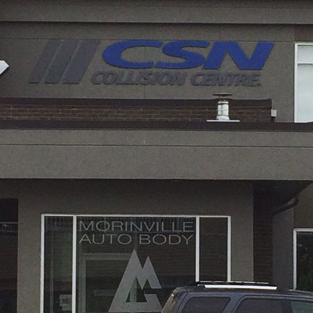 Glad we were able to add a great looking sign to the great looking building for Morinville Auto Body. #nationalneonsigns  #companysigns #morinvilleautobody #morinville