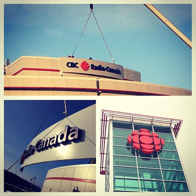 Proud to have been the signage provider for the new CBC facility in Calgary!