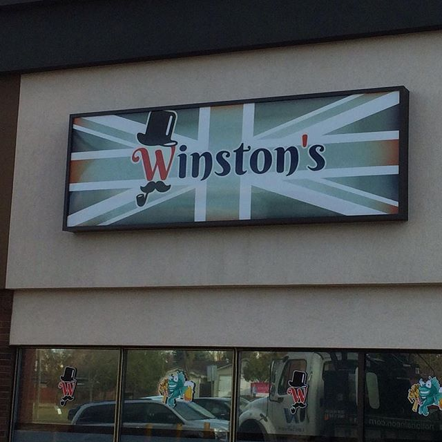 Winston's Fish & Chips has a great new sign and once inside they have some of the best Fish & Chips this side of London! #winstons #fishandchips #yeg #nationalneonsigns #companysigns #fishandchips