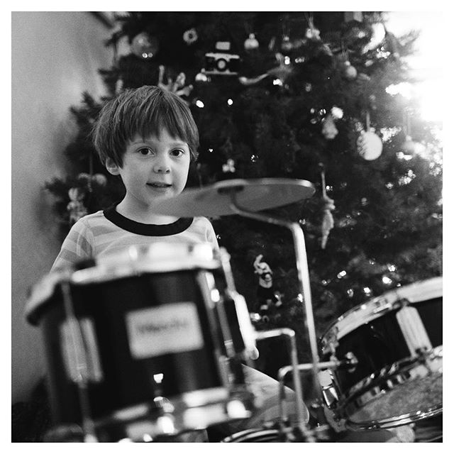 Santa dropped this off yesterday for Quinn. Here's our future rock star 😊