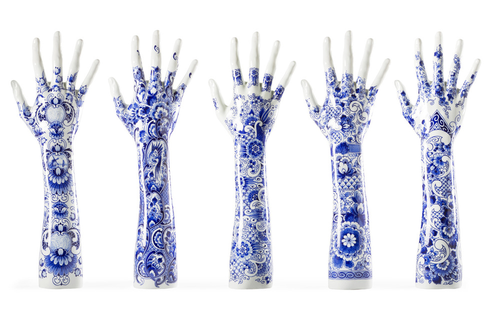 'Fragile Fingers' were designed for Marcel Wanders for the hands and arms of world-renowned Dutch pianist, Iris Hond. Image: Marcel Wanders