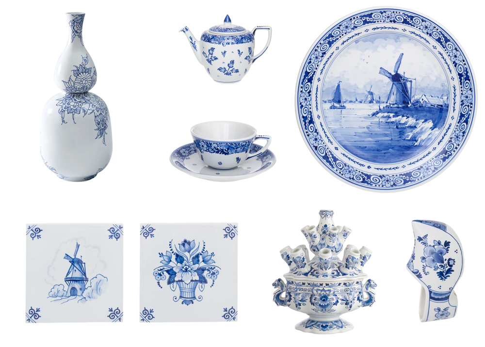 Products currently being made by Royal Delft with traditional scenes of Dutch life. Images: Royal Delft