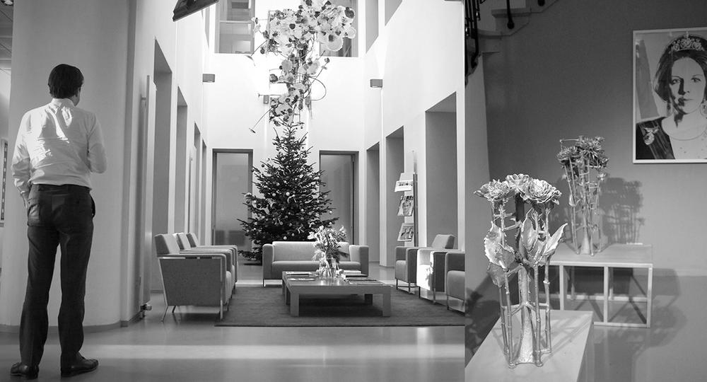 Andy Warhol, Guido Geelen, Dahlia, A.P Bloem, Florist. Bloemist, Bloemenwinkel, Kerst, Christmas, Kerstboom, Tree, Decoration, Theodoor Gilissen