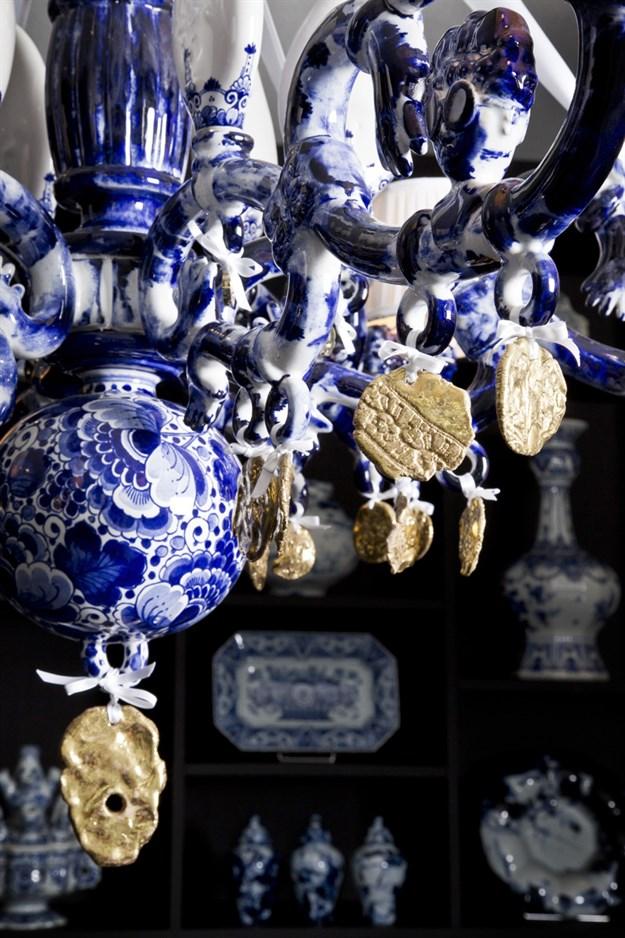 Delft Blue Chandelier designed by Marcel Wanders Image: Marcel Wanders