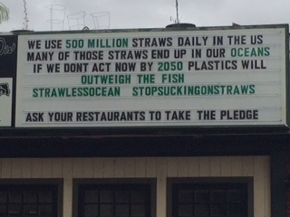 At The People's Pint we have always tried to limit our footprint but using as few disposable products on our tables as possible. While we do offer compostable straws to those who really want want, we ask our customers to help us limit waste wherever we can. Next time, skip the straw!