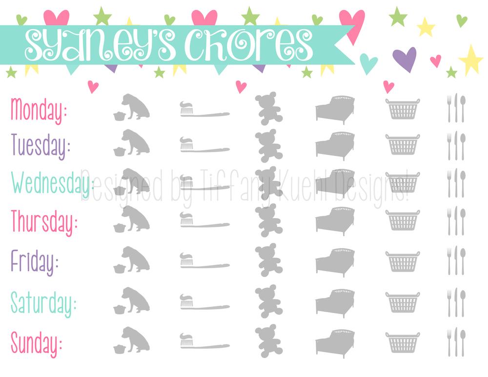 sydney's chore chart