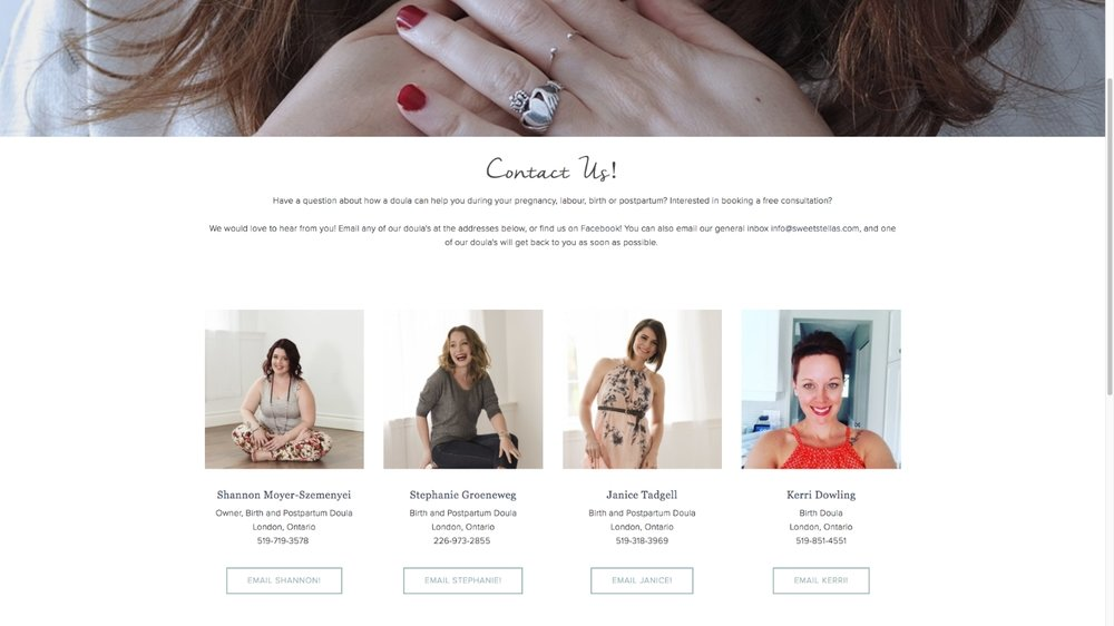 Sweet Stella's New Website | Squarespace Design | Designed by Tiffany Kuehl Designs