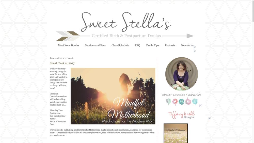 Sweet Stella's Blogger Design | Tiffany Kuehl Designs