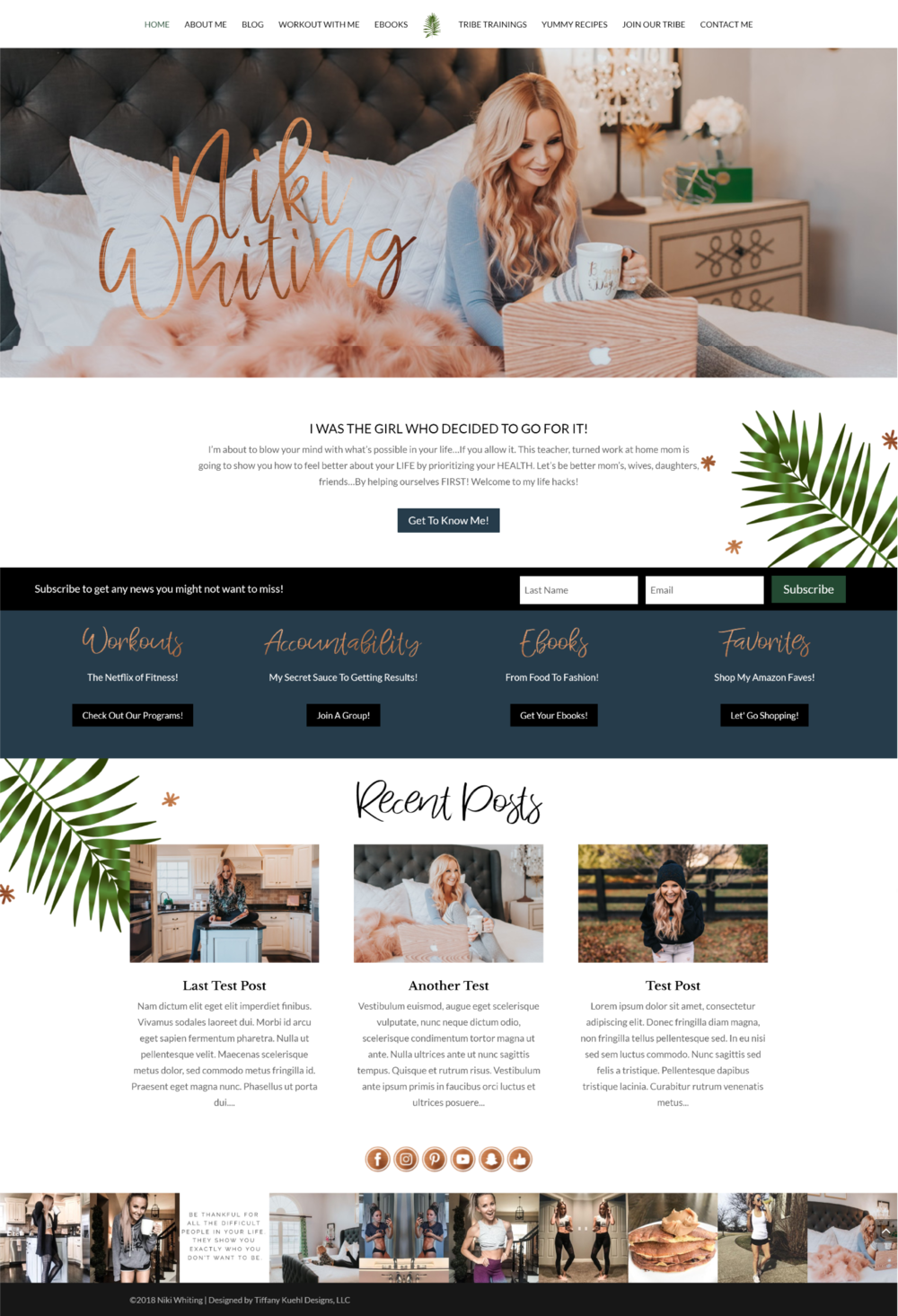 Niki Whiting Website Design | Tiffany Kuehl Designs