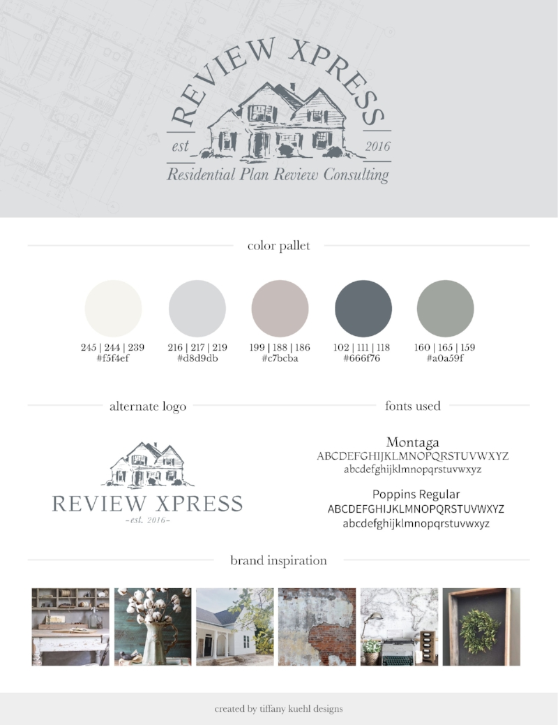 Review Xpress Brand Board | Tiffany Kuehl Designs