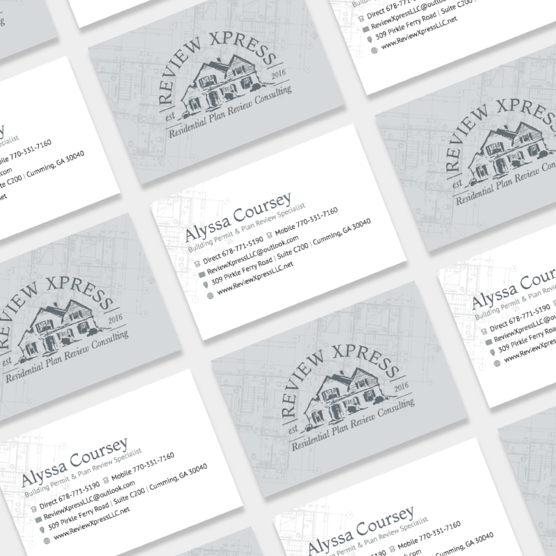 Review Xpress Business Cards | Tiffany Kuehl Designs