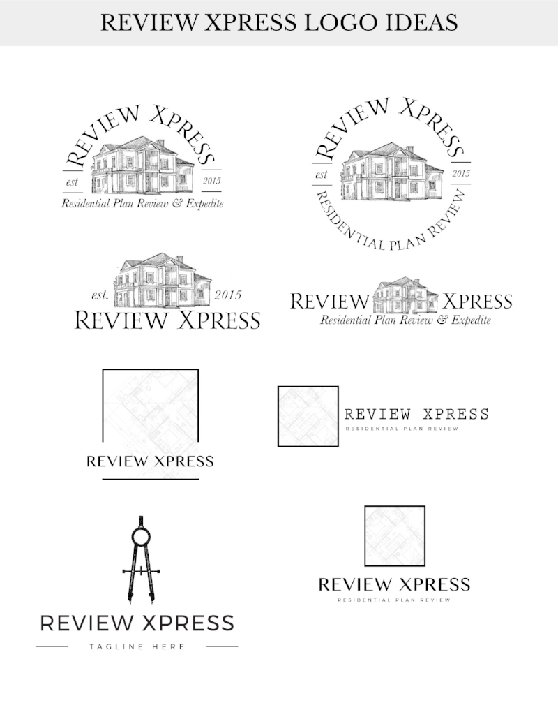 Review Xpress Logo Ideas | Tiffany Kuehl Designs