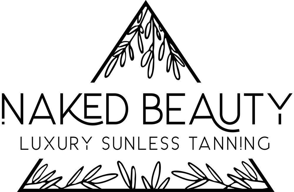 Naked Beauty Logo | Tiffany Kuehl Designs  Everything about this logo speaks natural elegance to me. It's fun, peppy, but very simple in terms of color. This logo was so fun to design, and I love each and every element of it.  #branding #customlogo #logodesign #luxuriousbranding #custombranding #sunlesstanning