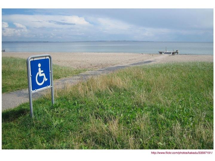 A wheelchair ramp on a beach in Australia