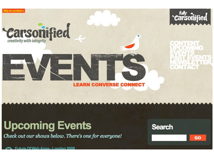 Carsonified Events Page