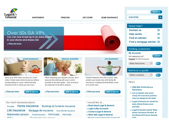 Legal & General Home Page