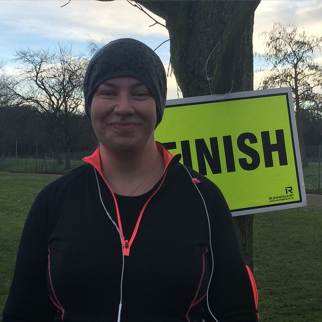 parkrun: Done! (picture by @thayer, who graciously came back round to run the last bit with me when she was done and I wasn't)