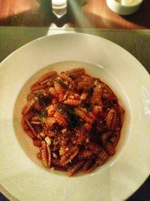 Cavatelli with smoked lamb.