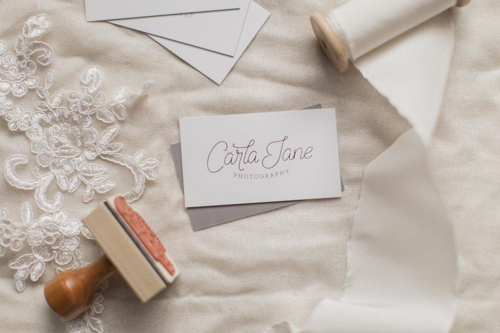 Carla Jane Photography | Hand Lettered Branding | Nashville Wedding Photographer