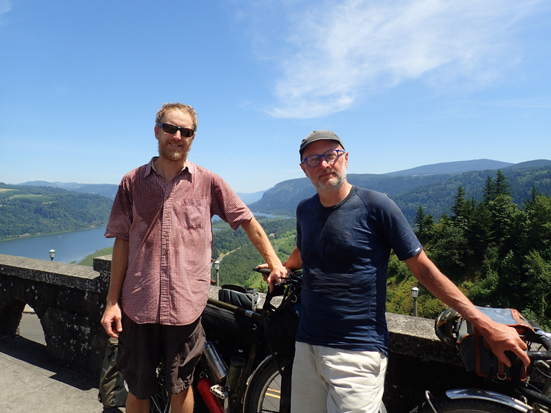 Jrdn & Myself, Sweaty at the Vista House