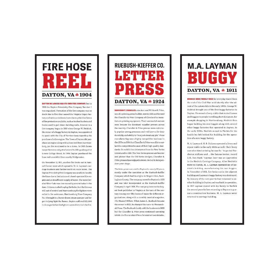 Exhibit Display Panels