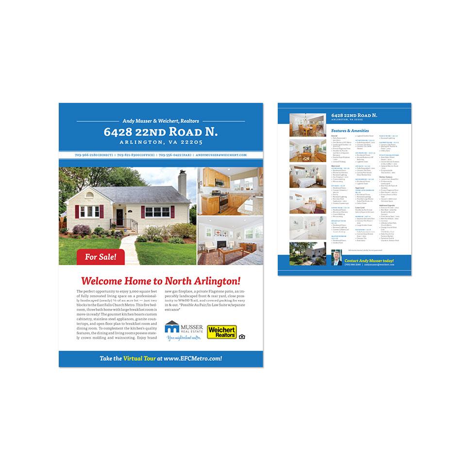 marketing sidecar studio design listing flyer