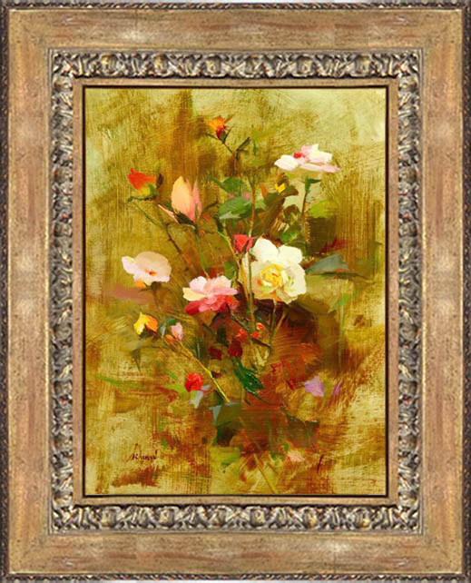 """November Roses"" Oil 12"" x 9"" ©Richard Schmid 2016"