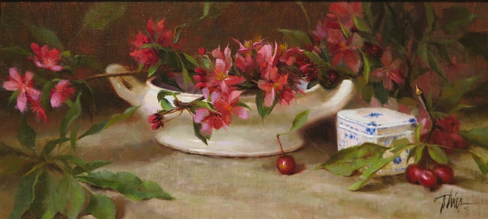 """Apple Blossoms & Antique Bowl"" ©Timothy R. Thies 2001"